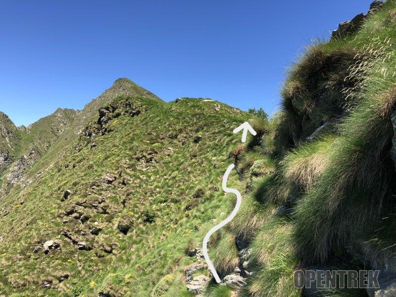 sentiero pizzo delle pecore