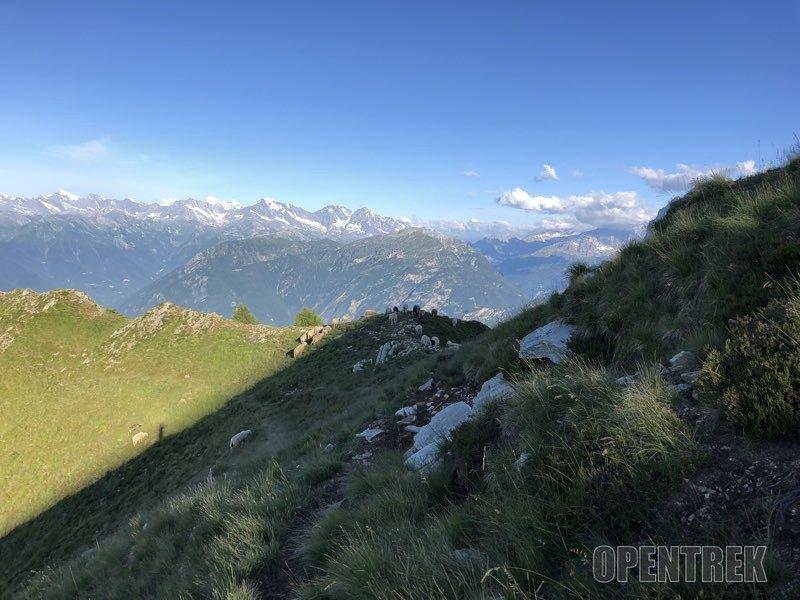 sentiero in cresta
